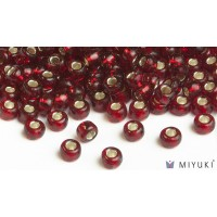Miyuki 6/0 Glass Beads 11 - Silverlined Ruby approx. 30 grams