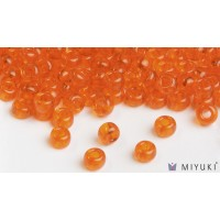 Miyuki 6/0 Glass Beads 138 - Transparent Orange approx. 30 grams