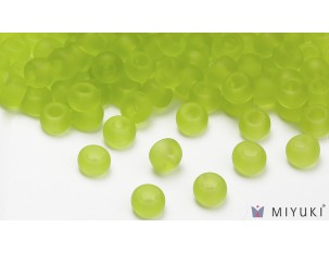 Miyuki 8/0 Glass Beads 143F - Transparent Frost Chartreuse approx. 30 grams