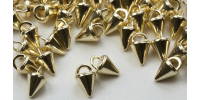 3mm Micro Spike Buttons - Gold Rhodium 20pk - Crystaletts