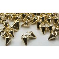 3mm Micro Spike Buttons - Gold Rhodium 100 pk - Crystaletts