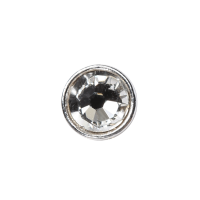 3mm Buttons Crystal with Silver Bezel 20pk - Crystaletts