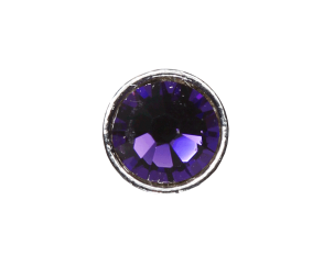 3mm Buttons Purple Velvet with Silver Bezel 20pk - Crystaletts