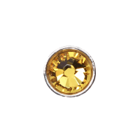 3mm Buttons Sunflower with Silver Bezel 20pk - Crystaletts