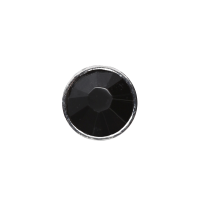 3mm Buttons Jet with Silver Bezel 100 pk - Crystaletts