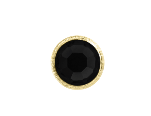 3mm Buttons Jet with Gold Bezel 100pk - Crystaletts