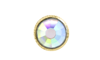 3mm Buttons Crystal AB with Gold Bezel 20pk - Crystaletts