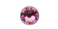 3mm Buttons Rose with Silver Bezel 20pk - Crystaletts