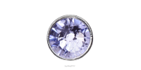 3mm Buttons Provence Lavender with Silver Bezel 20pk - Crystaletts