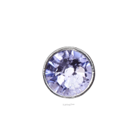 3mm Buttons Provence Lavender with Silver Bezel 100 pk - Crystaletts