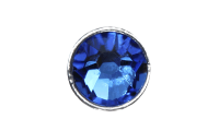 3mm Buttons Capri Blue with Silver Bezel 20pk - Crystaletts