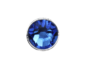 3mm Buttons Capri Blue with Silver Bezel 100 pk - Crystaletts